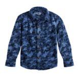Boys 4-12 Jumping Beans® Camouflaged Fleece Button Down Shirt