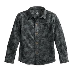 Boys 4-12 Jumping Beans® Camouflaged Fleece Button Down Shirt