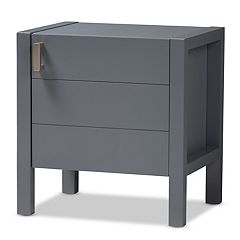 Baxton Studio Modern Walnut Nightstand