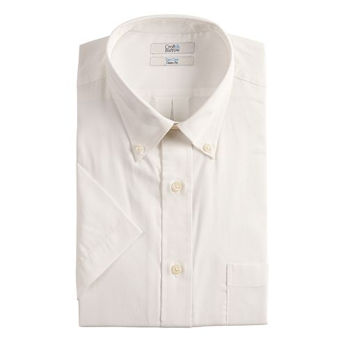 Big & Tall Croft & Barrow® Classic Fit Easy Care Button Down Collar Short Sleeved Dress Shirt by Big & Tall Croft & Barrow
