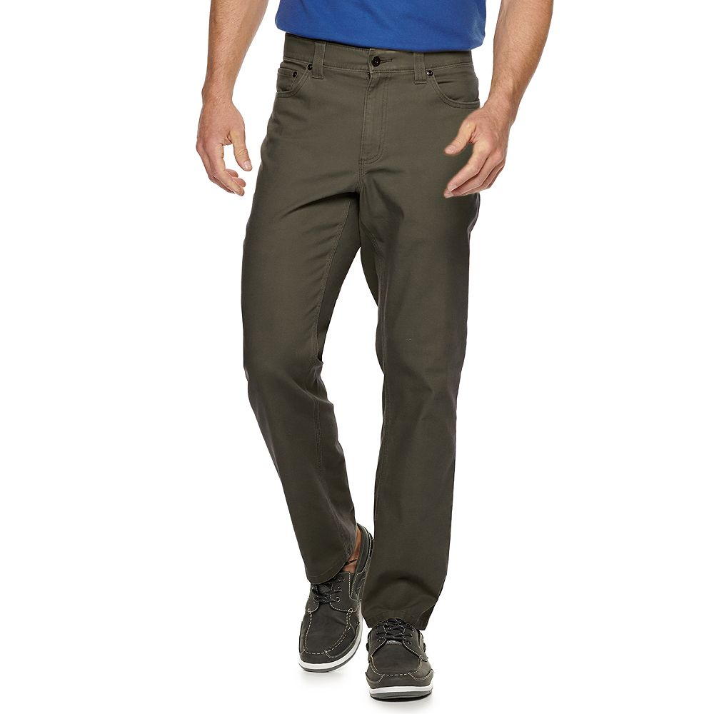 Men's Croft & Barrow® Straight-Fit Utility 5-Pocket Canvas Work Pants