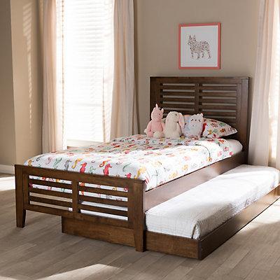 Baxton Studio Modern Twin Bed & Trundle