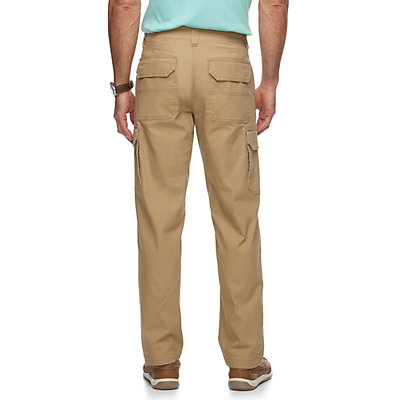 Men's Croft & Barrow® Straight-Fit Canvas Cargo Work Pants