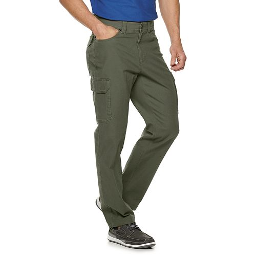 Men's Croft & Barrow® Straight-Fit Canvas Cargo Work Pants