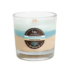 WoodWick Trilogy Island Getaway Tropical Waters, Coconut Waves & Cabana Beach 10 1/2-oz. Jar Candle