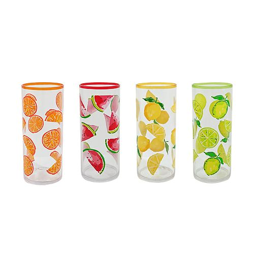Celebrate Summer Together 4-pc. Acrylic Collins Glass Set