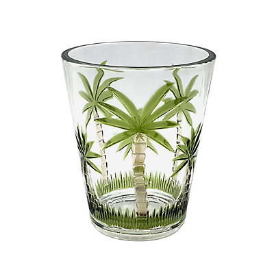 Celebrate Summer Together Palm Double Old-Fashioned Glass