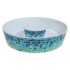 Celebrate Summer Together Cool Mosaic Chip & Dip Tray