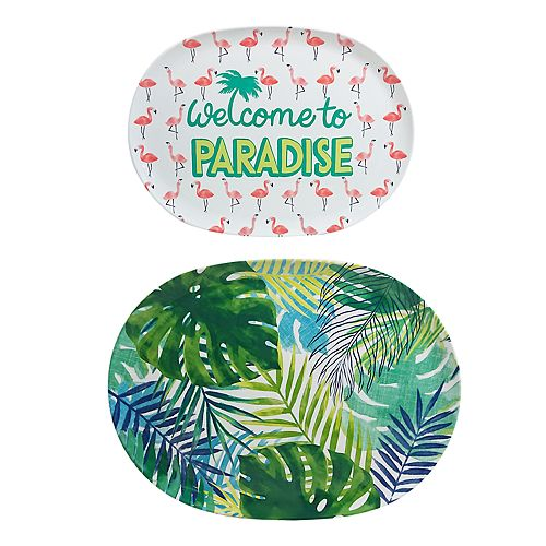 Celebrate Summer Together 2-pc. Palm Treat Tray Set