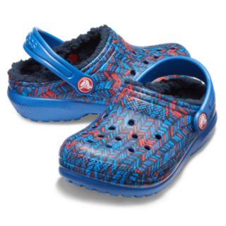 Crocs Classic Lined Geometric Boys' Clogs