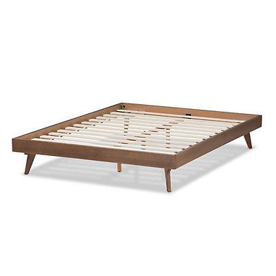 Baxton Studio Mid-Century Walnut Bed Frame
