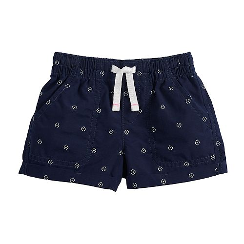 Toddler Girl Jumping Beans® Printed Roll-Cuff Shorts