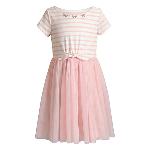 fb34ee716193 Girls 4-6x Youngland Striped Tulle Dress