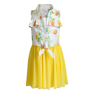 Girls 4-6x Youngland Lemon Mock-Layer Dress