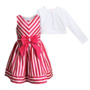 Girls 4-6x Youngland Striped Dress & Cardigan Set