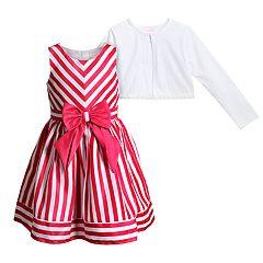 Girls 4-6x Youngland Striped Dress & Cardigan Set