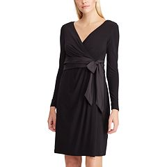 Women's Chaps Surplice Faux-Wrap Dress