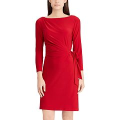 Women's Chaps Gathered Side-Tie Sheath Dress