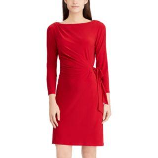 Women's Chaps Gathered Side-Tie Sheath Dress
