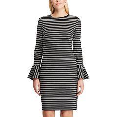 Women's Chaps Plaid Bell-Sleeve Ponte Dress