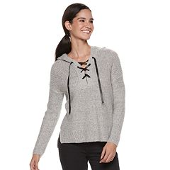 Women's Rock & Republic® Ribbed Hooded Sweater