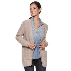 Women's Rock & Republic® Ribbed Open-Front Cardigan