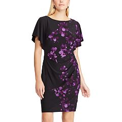 Women's Chaps Floral Flutter Sleeve Sheath Dress