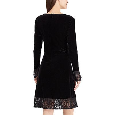 Women's Chaps Lace-Trim Fit & Flare dress