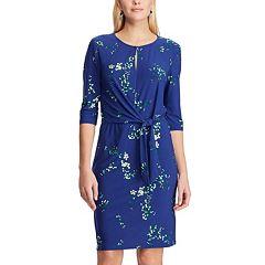Women's Chaps Floral Tie-Front Dress