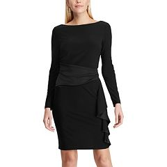Women's Chaps Satin Ruffle Sheath Dress