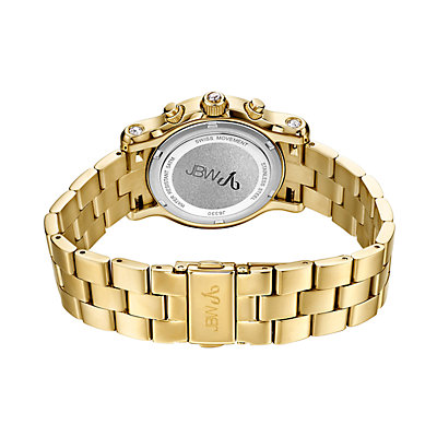 Women's JBW Laurel Diamond Accent & Crystal 18k Gold-Plated Watch - J6330A-A