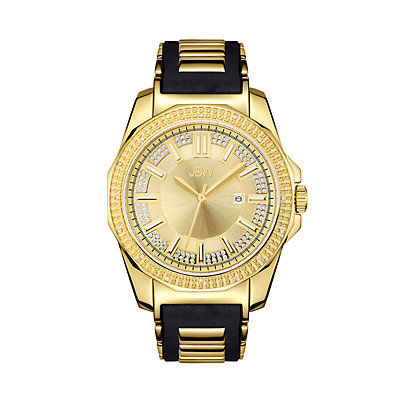 Men's JBW Regal Diamond Accent & Crystal 18k Gold-Plated Watch - J6332A-A