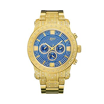 Men's JBW Lynx Diamond Accent & Crystal 18k Gold-Plated Watch - J6336C
