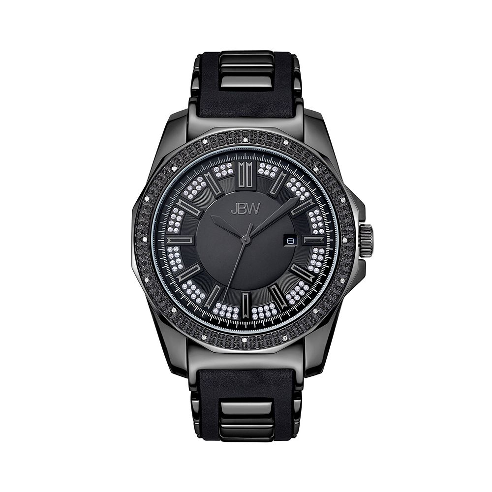 Men's JBW Regal Diamond Accent & Crystal Black Ion-Plated Watch - J6332B-B