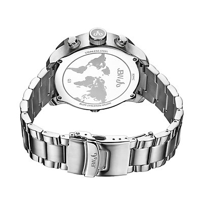 Men's JBW G3 Diamond Accent & Crystal Stainless Steel Dual Time Watch - J6344C