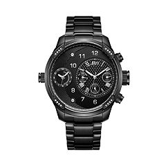 c746389a204 Men's JBW G3 Diamond Accent & Crystal Black Ion-Plated Dual Time Watch -  J6344D