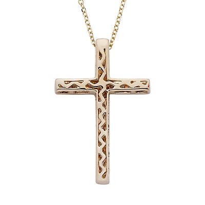 14k Gold 1/4 Carat T.W. IGL Certified Diamond Cross Pendant Necklace