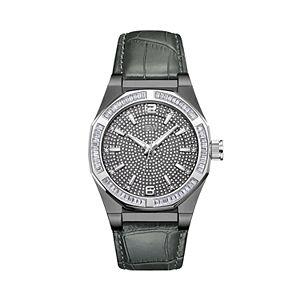 Men's JBW Apollo Diamond Accent & Crystal Leather Watch - J6350C