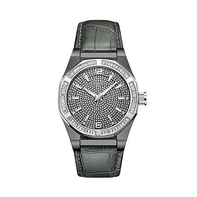 Men's JBW Apollo Diamond Accent & Crystal Leather Watch - J6350C