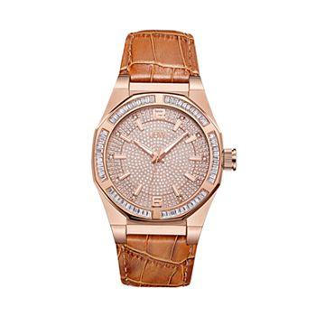 Men's JBW Apollo Diamond Accent & Crystal Leather Watch - J6350D