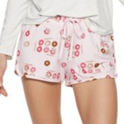 Juniors' SO® Printed Dolphin Hem Shorts