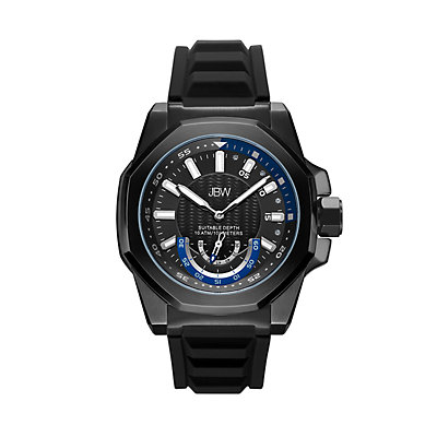 Men's JBW Delmare Diamond Accent & Crystal Black Ion-Plated Watch - J6359A