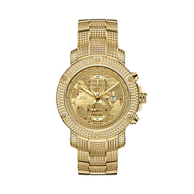 Men's JBW Veyron Diamond Accent & Crystal 18k Gold-Plated Watch - J6360C