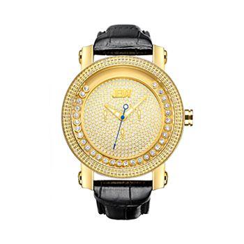 Men's JBW Hendrix Diamond Accent Leather Watch - JB-6211L-A