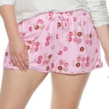 Plus Size SO® Printed Dolphin Hem Shorts