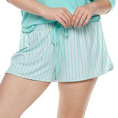 Plus Size SO® Printed Dolphin Hem Shorts
