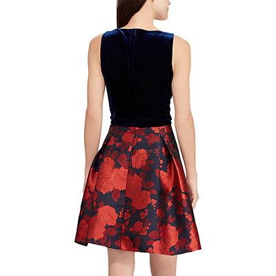 Women's Chaps Floral Velvet Fit & Flare Dress
