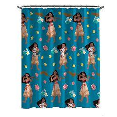 Disney's Moana Flower Power Shower Curtain & Hooks