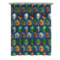 Minecraft Characters Shower Curtain & Hooks