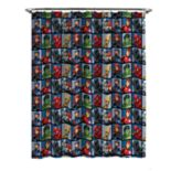 Marvel Avengers Team Shower Curtain & Hooks